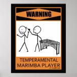 Poster temperamental amonestador del jugador del M Póster