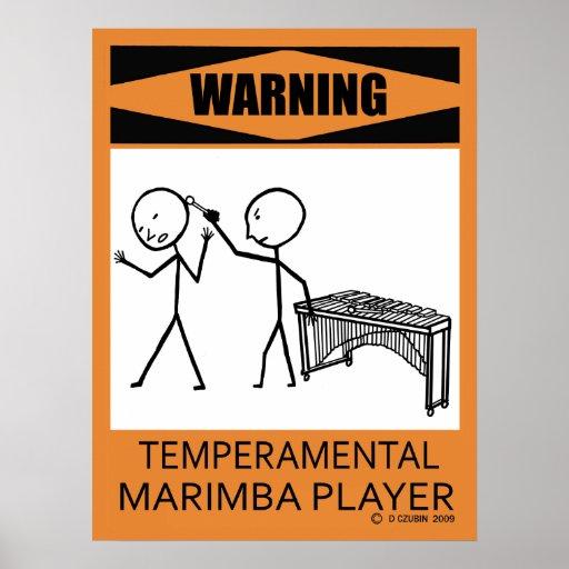 Poster temperamental amonestador del jugador del póster
