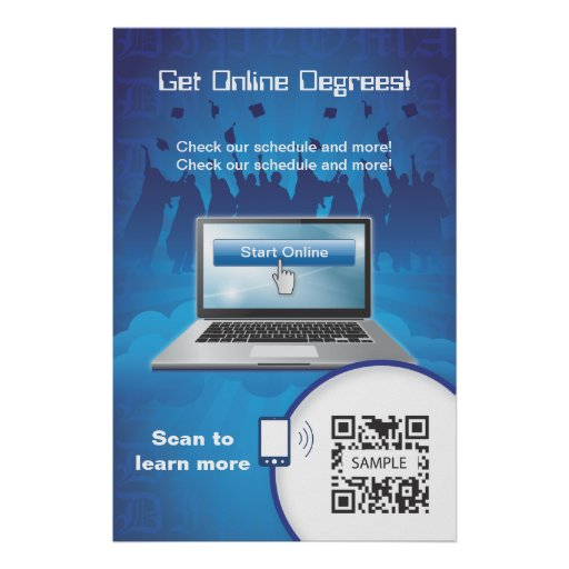 Poster Template Online Degrees