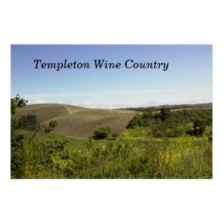 Poster--Templeton-Wine-Counrty-46W, Templeton W... print
