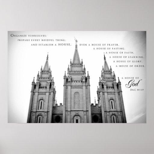Poster - templo 2 de Salt Lake City Utah LDS