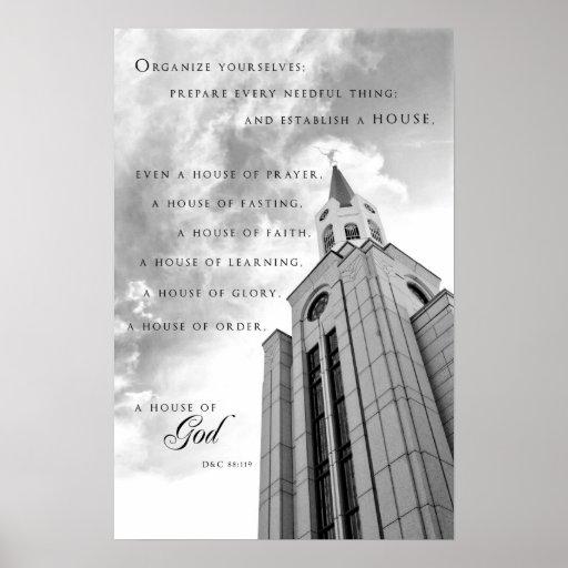 Poster - templo de Boston Massachusetts LDS