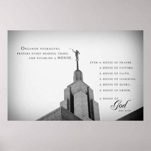 Poster - templo de Utah LDS del pañero