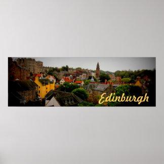 poster teñido encantador del recuerdo de Edimburgo