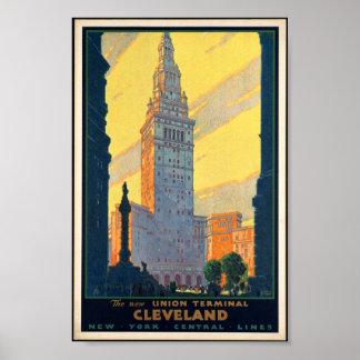 Poster terminal del vintage de la unión de Clevela