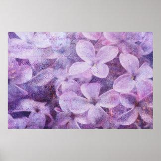 Poster texturizado de las lilas