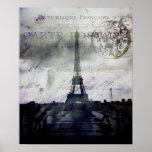 Poster texturizado de París