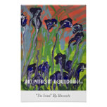 "Poster: ""The Irises"" by Raymonde"