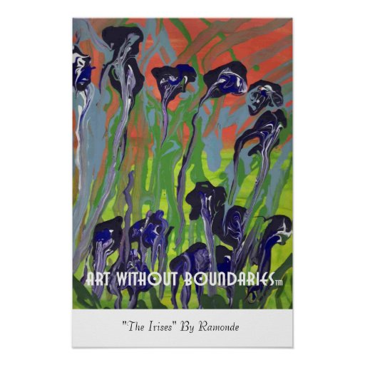 "Poster: ""The Irises"" by Raymonde"