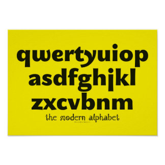Poster - The Modern Alphabet