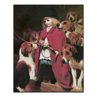 """Poster: """"The New Whip""""  - Girl with Foxhounds Poster"""