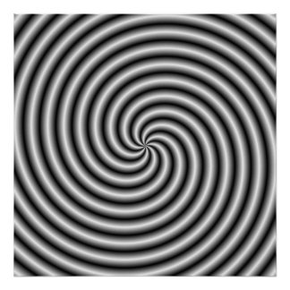 Poster  The Swirl in Black and White