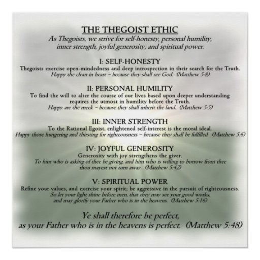 Poster: The Thegoist Ethic Poster