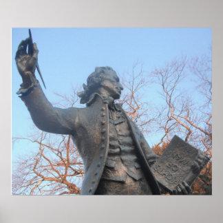 Poster Thomas Paine que lleva a cabo las derechas
