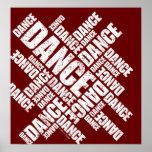 Poster tipográfico de la danza (apenada)