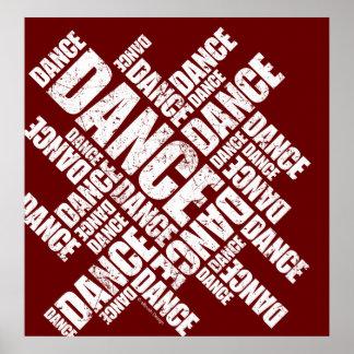 Poster tipográfico de la danza apenada