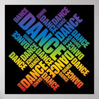 Poster tipográfico de la danza espectro