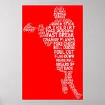 Poster tipográfico del jugador de LaCrosse