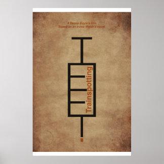 "Poster Tipográfico película ""Trainspotting""."