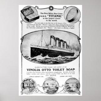 Poster titánico del vintage del jabón