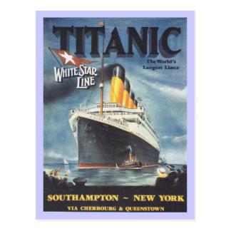 Poster titánico original tarjetas postales