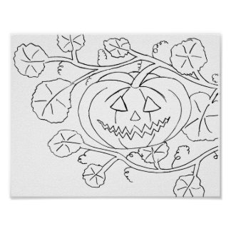 Poster � to color for Halloween -