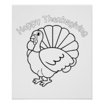 Poster � to color for Thanksgiving -
