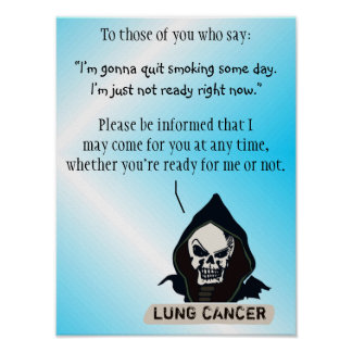 Poster to Motivate Quitting Smoking Immediately