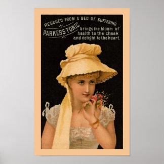 Poster tónico de la medicina de Parkers