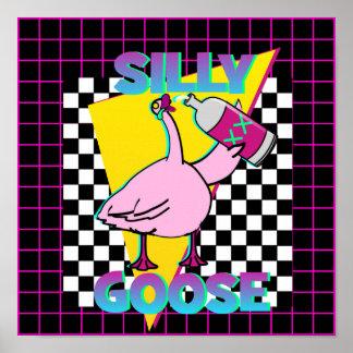 Poster tonto del ganso del vintage 80s
