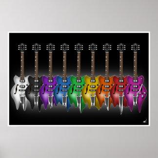 Poster total de la guitarra de la fusión