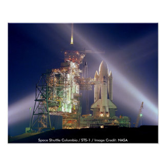 Poster/transbordador espacial Columbia/STS-1