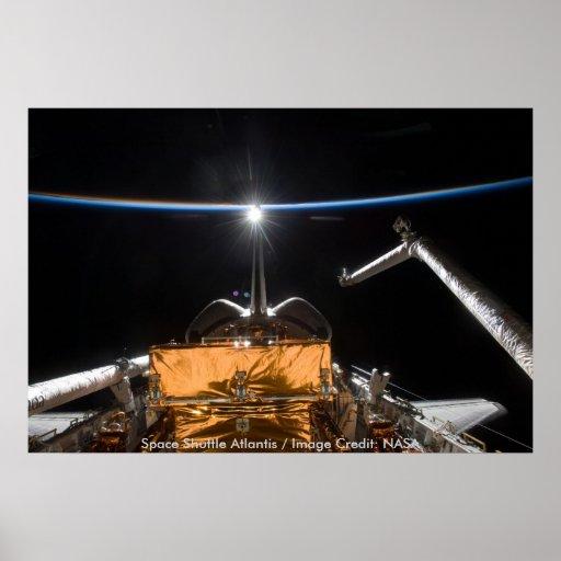 Poster/transbordador espacial la Atlántida/STS-125