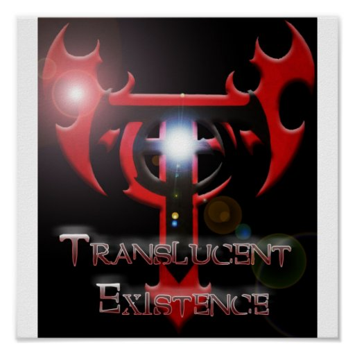 Poster translúcido del logotipo