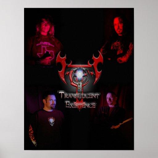 Poster translúcido del miembro de la banda