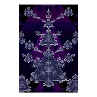 Poster: Triangle Fractal: Blueprint of Geometry Poster