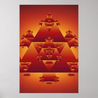 Poster: Triangle Fractal: Vector Artwork Poster