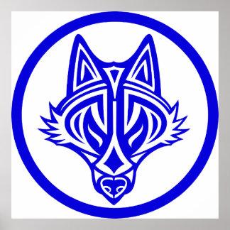 Poster tribal del lobo