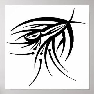 Poster tribal del tatuaje del ojo póster