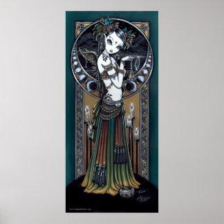 Poster tribal gótico del arte del bailarín de la f