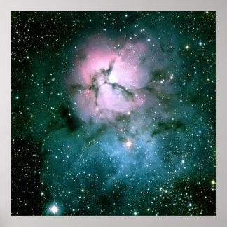 Poster trífido de la nebulosa