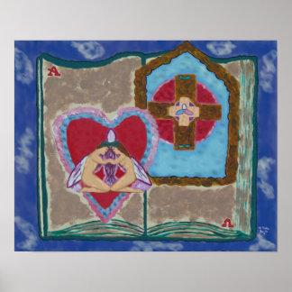 Poster trinitario del extracto de la boda