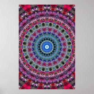 Poster Trippy: Ilustraciones radiales psicodélicas