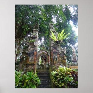 POSTER - Tropical Bali Garden print