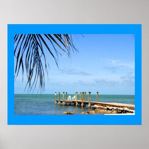 Poster tropical de la escena
