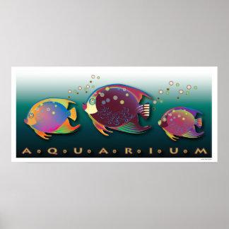 Poster tropical del acuario de las bellezas