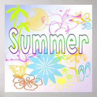 Poster tropical del verano