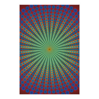Poster: Tunnel of Spheres: Psychedelic Art Poster