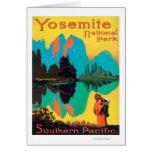 Poster turístico - parque nacional de Yosemite, CA Felicitaciones