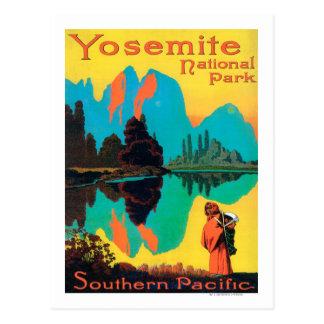 Poster turístico - parque nacional de Yosemite, CA Tarjeta Postal